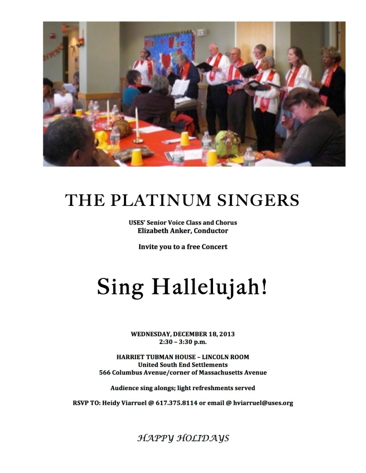 THE PLATINUM SINGERS 12-18