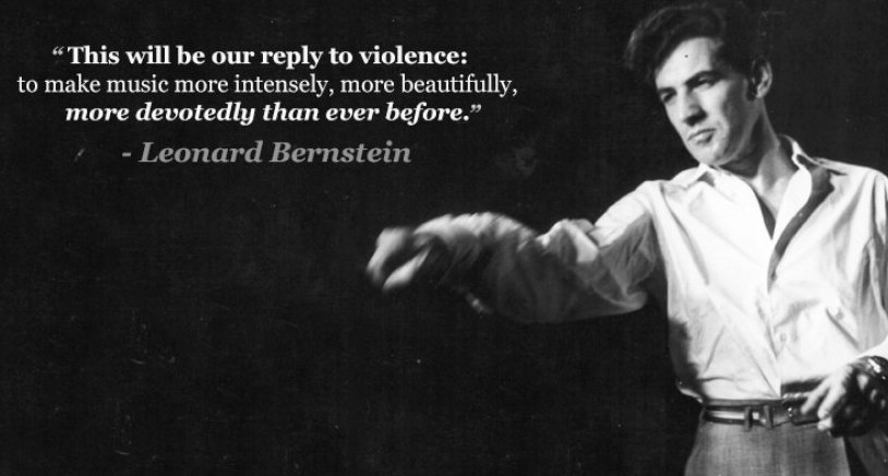 Leonard Bernstein quote on violence