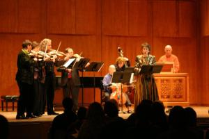 Bach Cantata #54 in 2006. Too bad you can't see my gold sneakers beneath the gown...