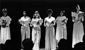 A young Liz on the far left, with the Veil of Isis in 1979